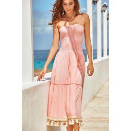 Robe Longue Bustier Sans Manches, Joy 100% Modal, Iconique IC20-069-PE