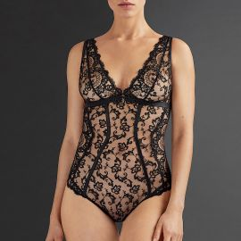 Body Sans Armatures Tout En Broderie, La Reine De La Nuit, Aubade QE86-LYRI