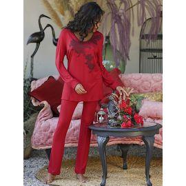 Pyjama Pantalon & Dentelle De Calais, Lidy, Marjolaine 4LID5500