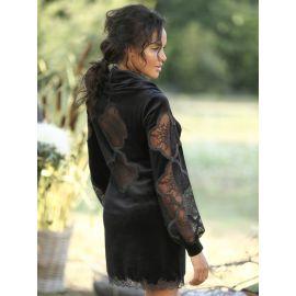 Mini Robe Velours Manches Longues, Lary, Marjolaine 5LAR0502-0004