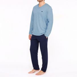Pyjama Long Sleepwear, Mathieu, Hom 401894-00BI