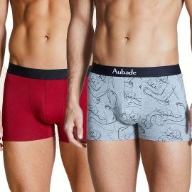 Duo Boxer Modal, Love Affair, Aubade Men XB58T-LOVE