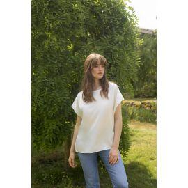 Tee-Shirt, Soie, Marjolaine 3SOI4115-0074