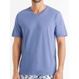 Tee-Shirt Col V Manches Courtes 100%Coton, Living Shirt, Hanro 075051-1562