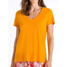 T-Shirt Manches Courtes Col V, Sleep & Lounge - Sunny, Hanro, 077876-1290