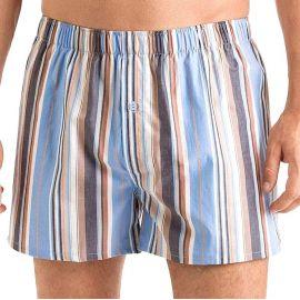 Boxer 100% Coton, Fancy Woven, Hanro 074015-2900 Rayure bleu orange