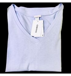 Tee-Shirt Manches Courtes Col V, Sleep & Lounge - Parme, Hanro, 077876-1465