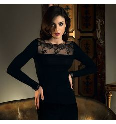 Long-sleeved well-being top., Sublime En Dentelle, Lise Charmel ANH2113-NO