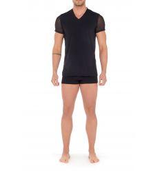 Tee-Shirt Col V, Loulou, Hom 402363-0004