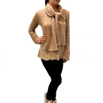 Gold Scarf Collar Sweater, Valery PG48-MGP57-ORO