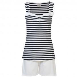 Pyjama Set Short Sleeves, Navy, Le Chat Navy 708