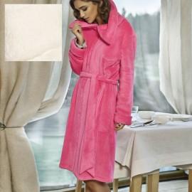 Robe de Chambre Zippé et Ceinture Polaire Courte, Wellness, Coemi 161W158