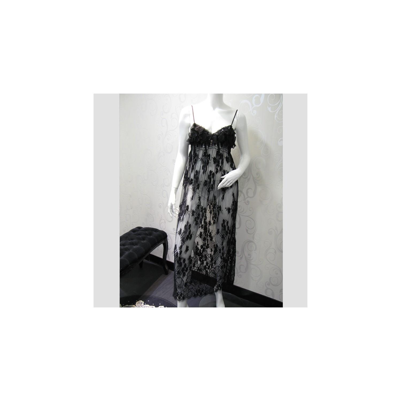 chemise de nuit longue troublante marjolaine 6tro3001. Black Bedroom Furniture Sets. Home Design Ideas