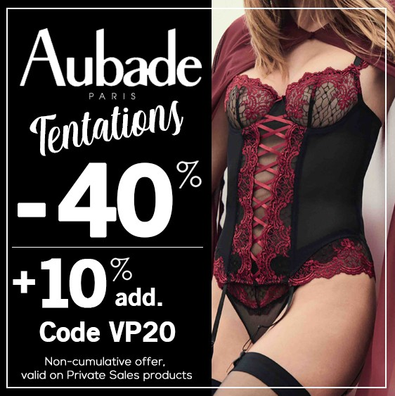 The Aubade Tentations Private Sale 2020