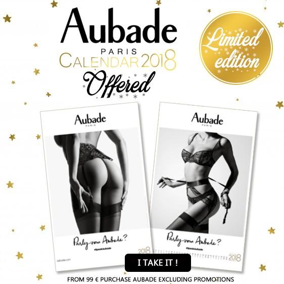 Aubade Calendar 2018