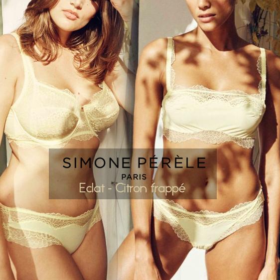 Simone Pérèle new collection Eclat Citron frappé Yellow lingerie 2020