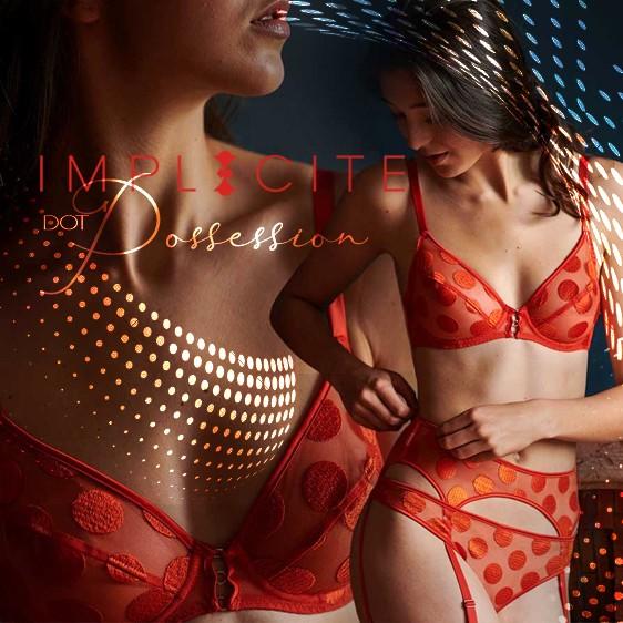 Implicite lingerie - Dot Possession Chili