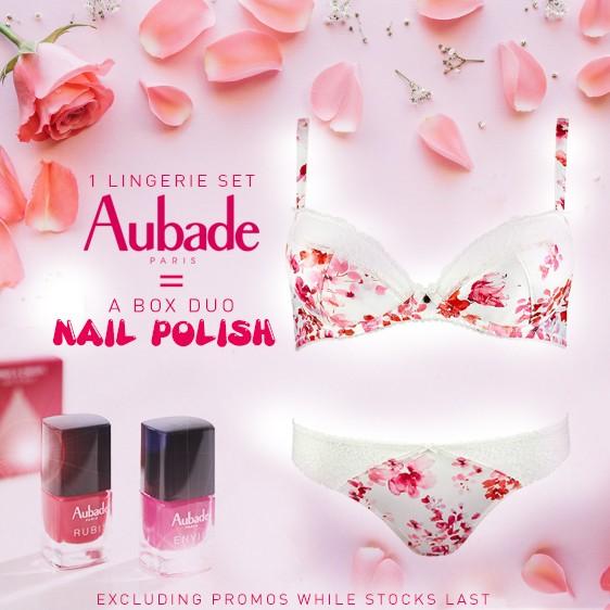 Aubade lingerie 2018 gift Valentine's day nail polish