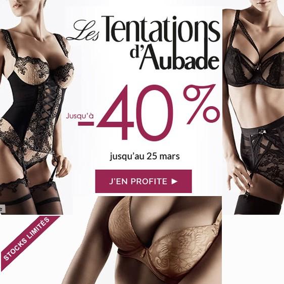 Aubade lingerie 2018 vente privée les tentations