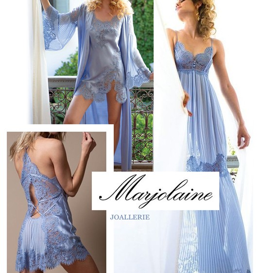 Marjolaine lingerie silk and lace new collection 2020