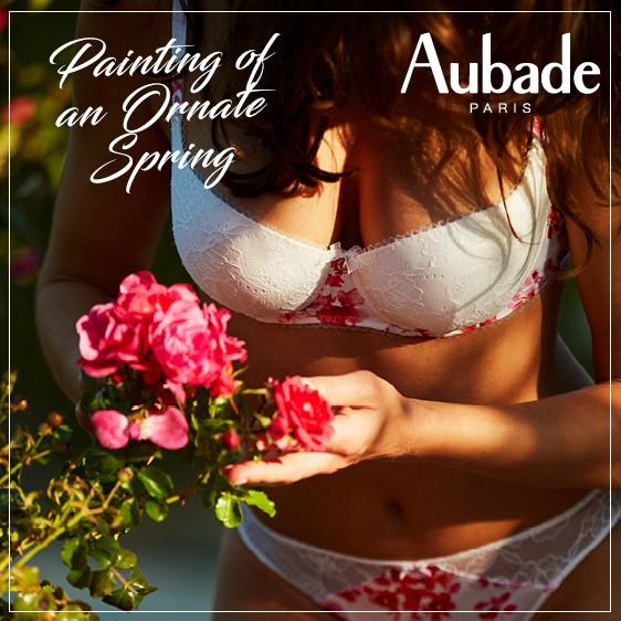 Aubade Charme d'Eden, Nudescence, Cuir de rose new collection 2018