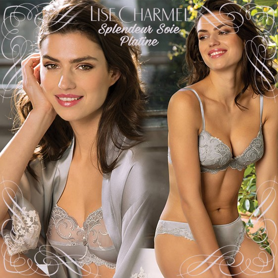 Lise Charmel lingerie new collection Splendeur soie Platine